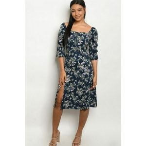 Fanco   Navy Floral Dress